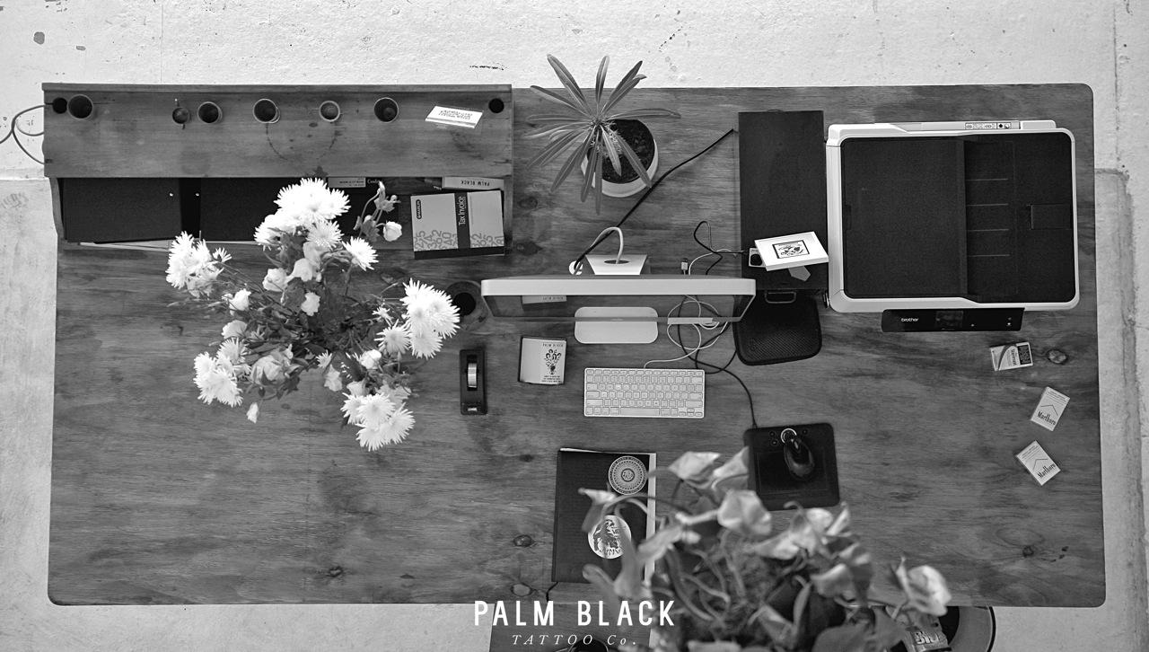 palm black tattoo
