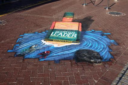 Scottish Leader street art at V&A Waterfront, CT LR